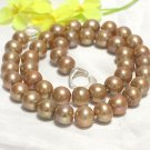 9.5-10MM CHAMPAGNE CULTURED PEARL NECKLACE