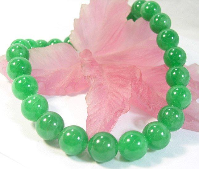 AAA+ HUGE 14MM green jade necklace