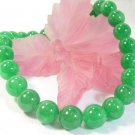 AAA+ HUGE 14MM green jade necklace