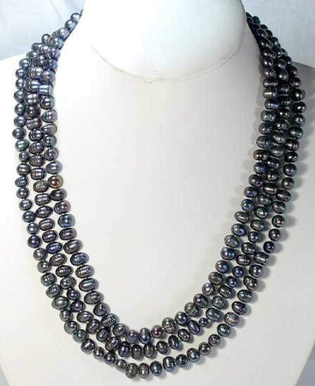 BAROQUE 68'' SINGLE 7-9MM CULTURED PEARL NECKLACE