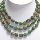 BEAUTIFUL 51'' 12-16mm NATURAL OLD TURQUOISE NECKLACE