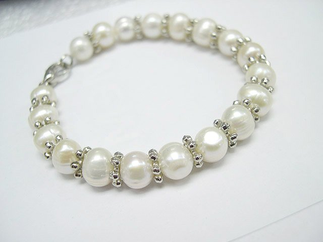 Baroque Single ROW 7.5'' FW Cultured PEARL BRACELET