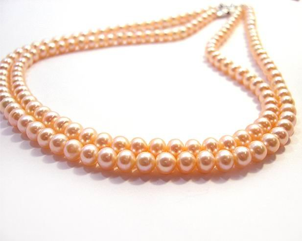 CHarm Pink CULTURED PEARL NECKLACE 925S