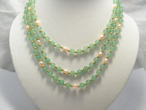 Charming 55'' single stand Jade Necklace