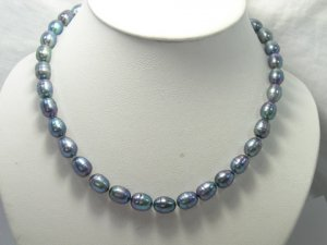 EXCELLENT 10-11MM peacock FW Cultured Pearl Necklace