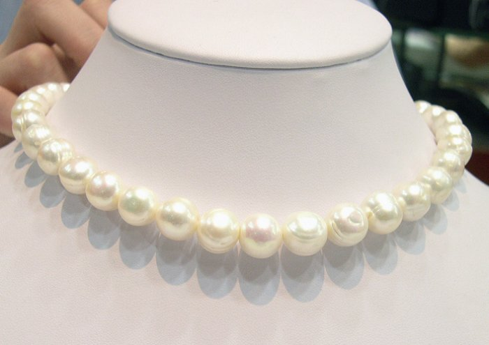 Excelent ONE PIECE White Cultured Pearl NECKLACE