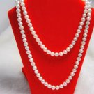 Excellence 32'' white cultured pearl Necklace