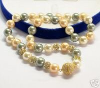 Genuine 3-color South Sea Shell Necklace