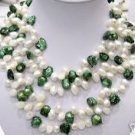 40'' 2-pcs 9-13mm 2-color cultured pearl Necklaces