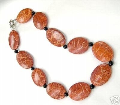 Huge 17'' 25-35mm coral necklace