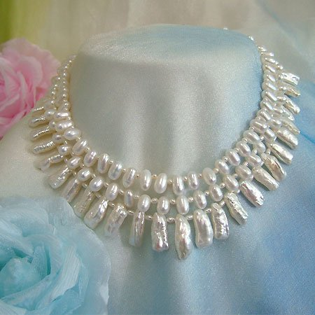 LADYLIKE 3ROWS FW PEARL NECKLACE 925