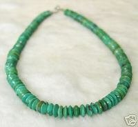SUPERB 16'' NATURAL OLD BLUE TURQUOISE NECKLACE