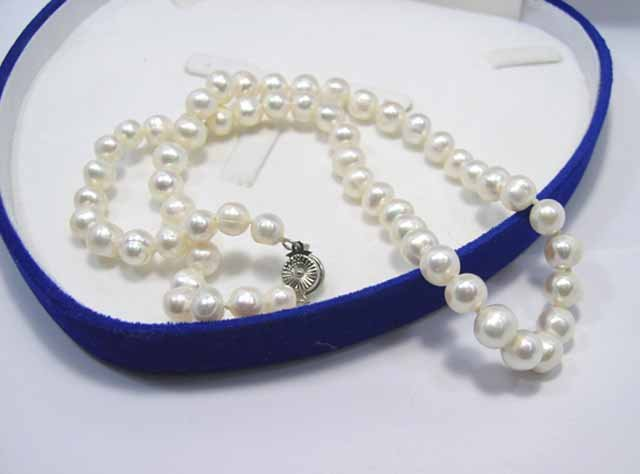 WholeSale 4 pcs Beautiful 7-8mm White PEARL Necklace