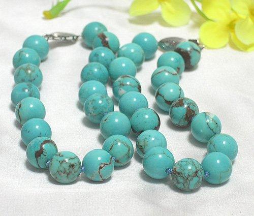 wholesale 2-pcs 10.5mm blue turquoise bracelets