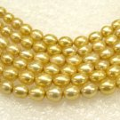wholesale 15'' 5-pcs loose gold cultured pearl necklaces