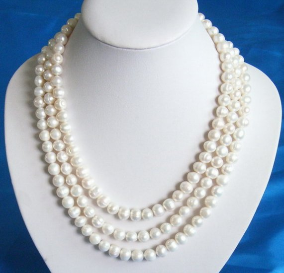 10-11mm 3 strands Fresh Water Pearls necklace