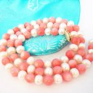 7 MM Fashion Fresh Water Pearl with Pink Coral Necklace