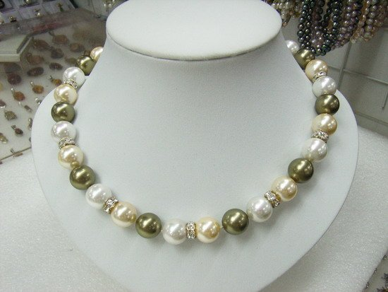 12 MM Colourful South Sea Shell Pearl Necklace
