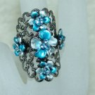 Rhinestone ring blue