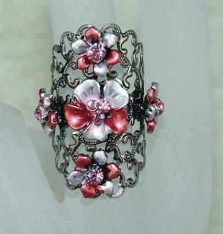 Rhinestone ring red