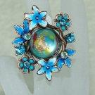 Rhinestone ring cute blue