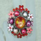 Rhinestone ring special red