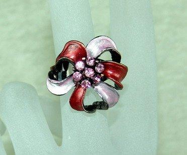 Rhinestone ring cutie red