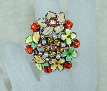 Rhinestone ring shine RG