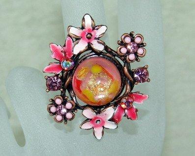 Rhinestone ring pink core