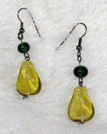 fancy yellow dreamstone earring
