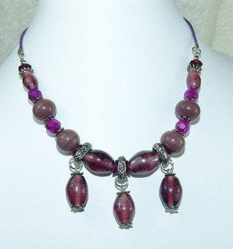fancy purple dreamstone necklace