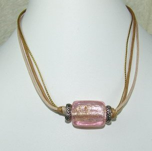 special string pink dreamstone bead necklace