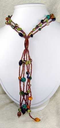gorgeous super long dreamstone beaded necklace