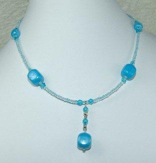 pretty sea blue dreamstone necklace