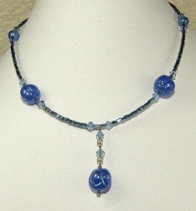 pretty blue dreamstone necklace