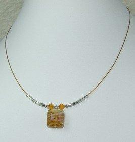 yellow dreamstone pendant necklace