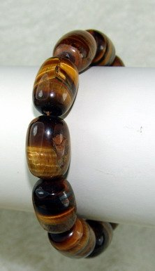 tigereye beaded bracelet