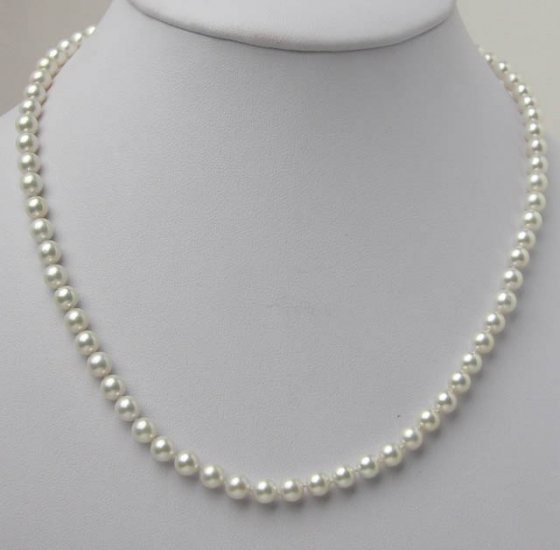 AA+ GRADE 5.5-6MM SALTWATER PEARL NECKLACE 14K Clasp