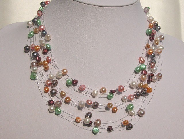 MULTICOLOR FW CULTURED PEARL STARRINESS NECKLACE