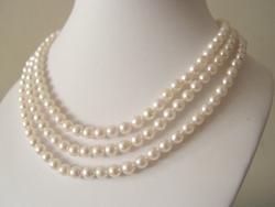 3-Strand 6.5-7MM Akoya Sea Pearl necklace