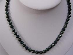 Rare 8.5mm Black freshwater Pearl Necklace