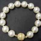 12mm white seashell pearl Bracelet