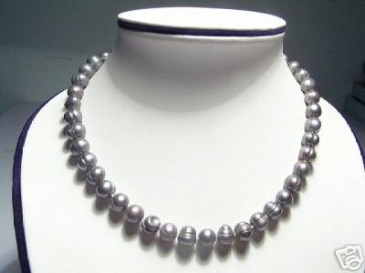 Baroque Real Gray FW Pearls Necklace