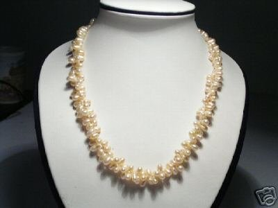 Elegant 2-Srd Pink Freshwater Pearls Necklace