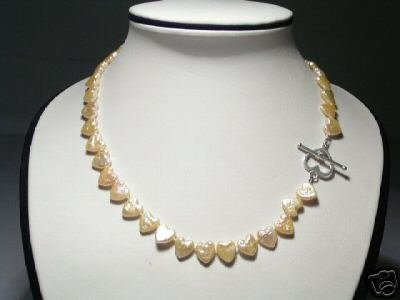 Lovely Baroque Pink FW Pearls Necklace925s