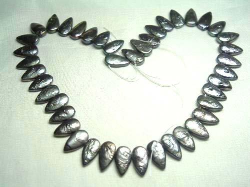 2 strand black freshwater pearl loose string