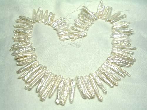 2 strand white freshwater pearl loose string
