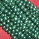 10 strand 6-7 mm bottle-green freshwater pearl