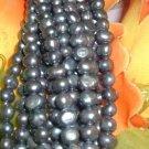 10 strand 6-7 mm nugget freshwater pearl-black