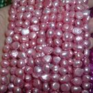 10 strand 7-8 mm nugget freshwater pearl loose string-pink